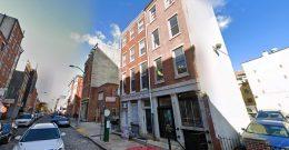 107 Chestnut Street (center). Looking northwest. Credit: Google