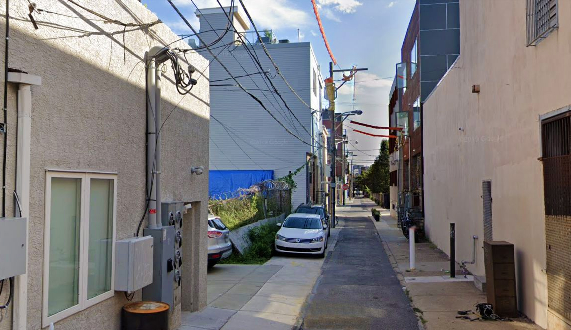 1309 Hope Street (center left). Looking south. Credit: Google