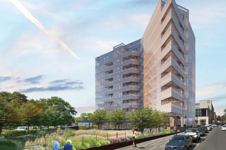 2100 Hamilton Street rendering from Cecil Baker and Partners