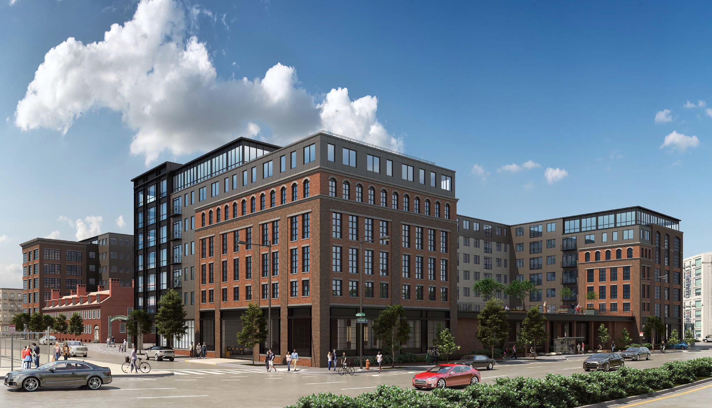 700-730 Delaware Avenue. Credit: JKRP Architects via the Civic Design Review