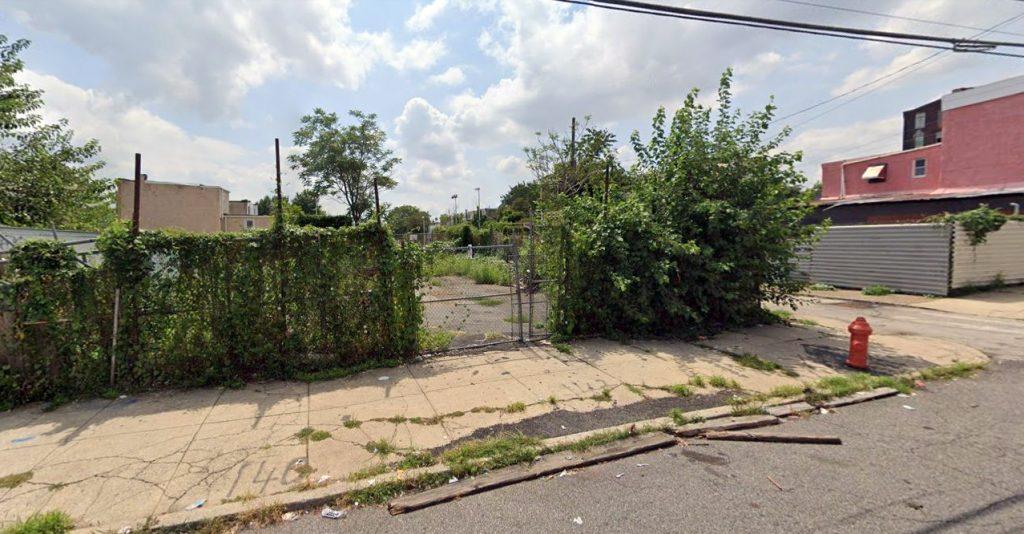 142 West Huntingdon Street. Looking southwest. Credit: Google
