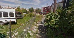 1722-1724 North Bonsall Street (left). Looking northwest. Credit: Google