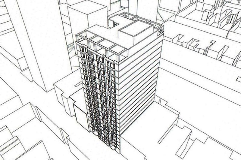 2012 Chestnut Street rendering. Image by Cope-Liner Architects