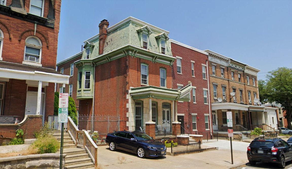 3609 Spring Garden Street. Looking northeast. Credit: Google