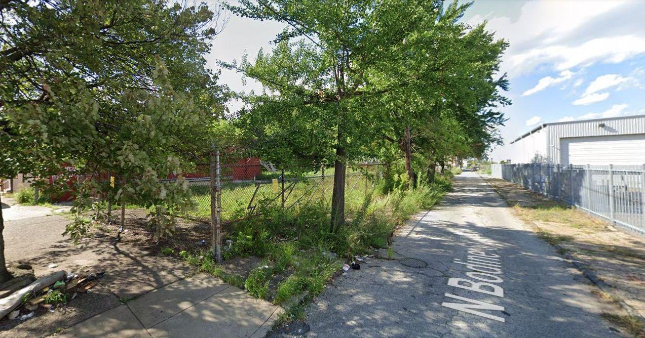 1602-1614 North Bodine Street. Looking northwest. Credit: Google