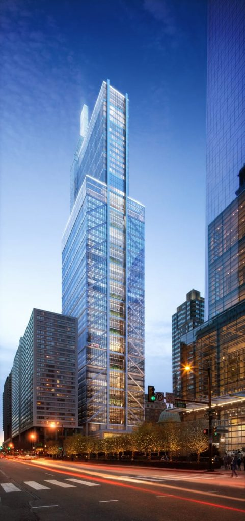 Final design of the Comcast Technology Center. Rendering by Foster and Partners