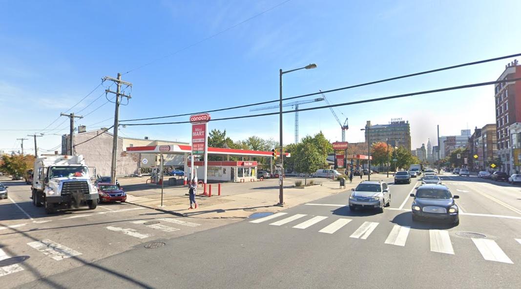 813 North Broad Street. Looking southeast. Credit: Google
