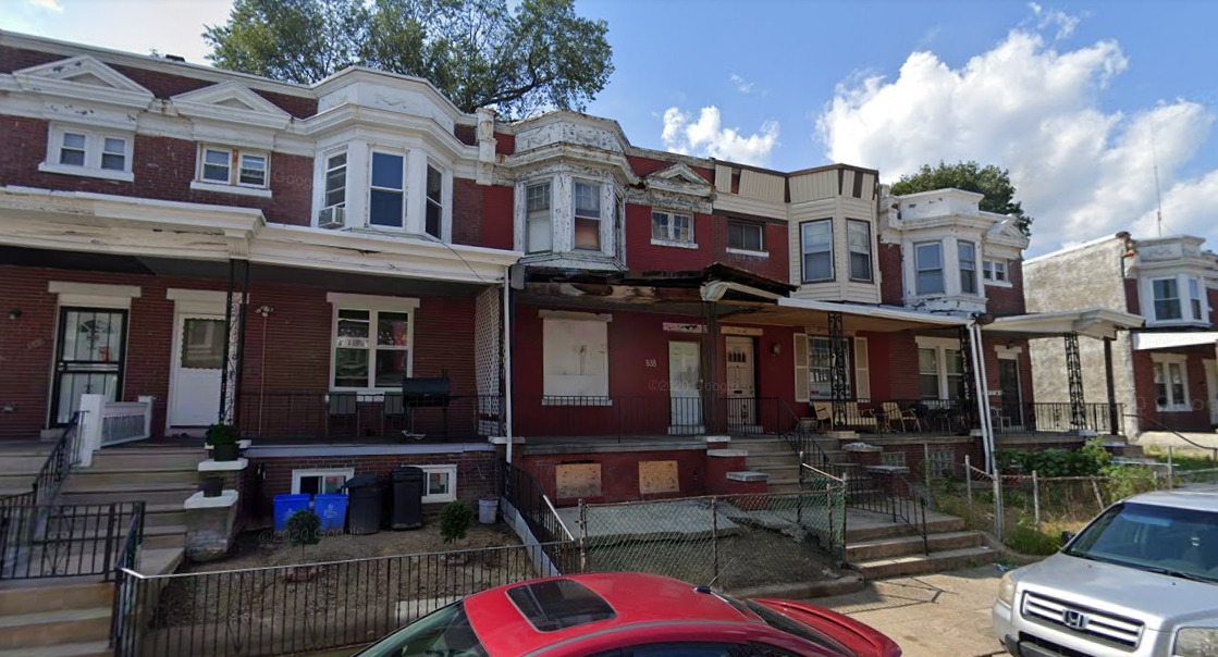 838 South Cecil Street. Looking northwest. Credit: Google