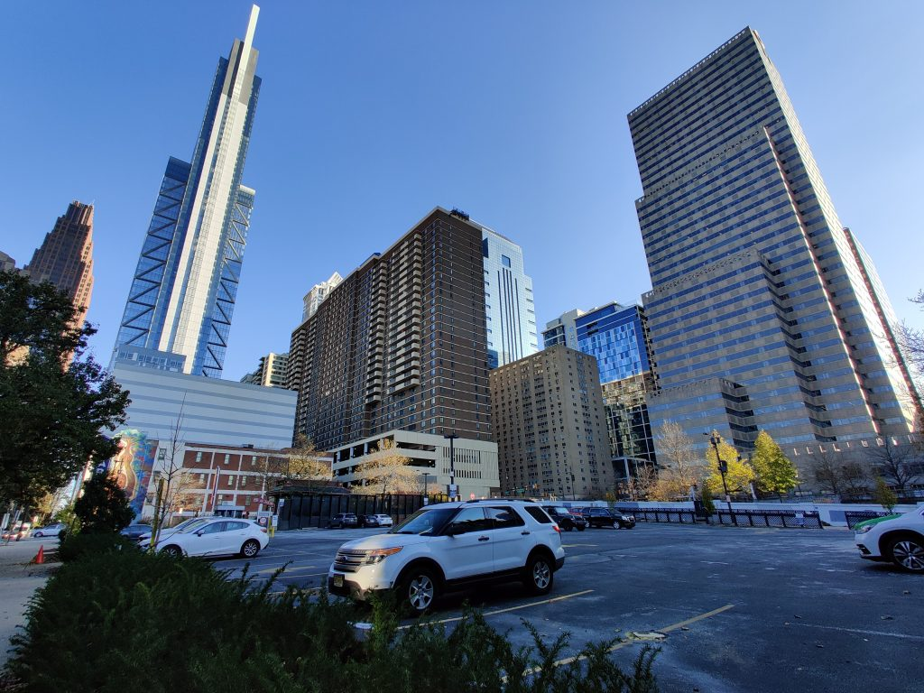 20th + Arch and Center City towers. Photo by Thomas Koloski