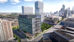 3151 Market Rendering with JFK Towers in background via Brandywine Realty