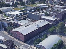 Aerial view of 1813 Howard Street via Google.