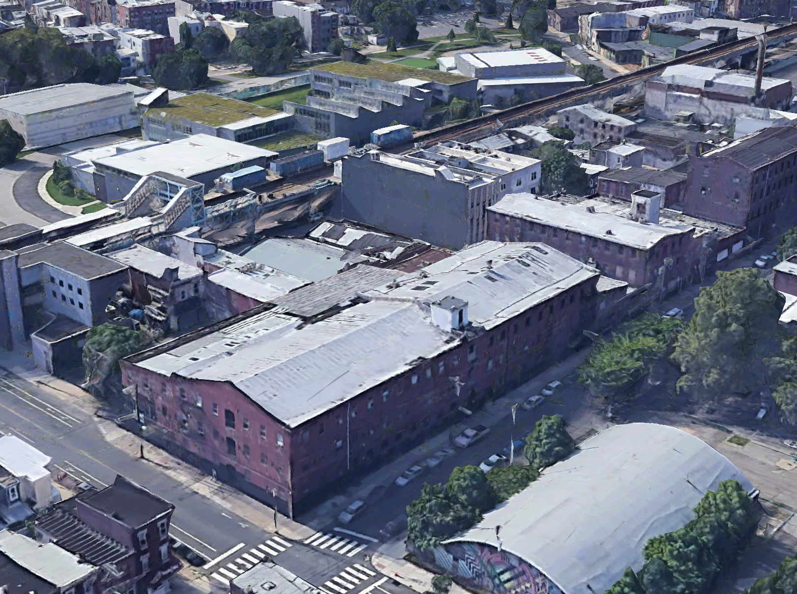 Aerial view of 1813 Howard Street via Google.