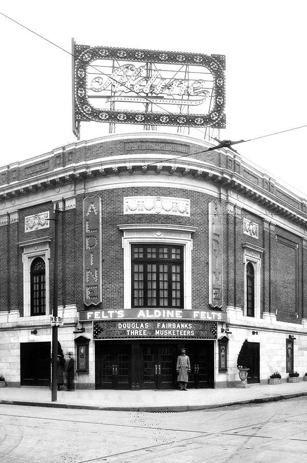 The Aldine Theatre a 1826 Chestnut Street. December 8, 1921. Looking southeast. Credit: PhillyHistory.org