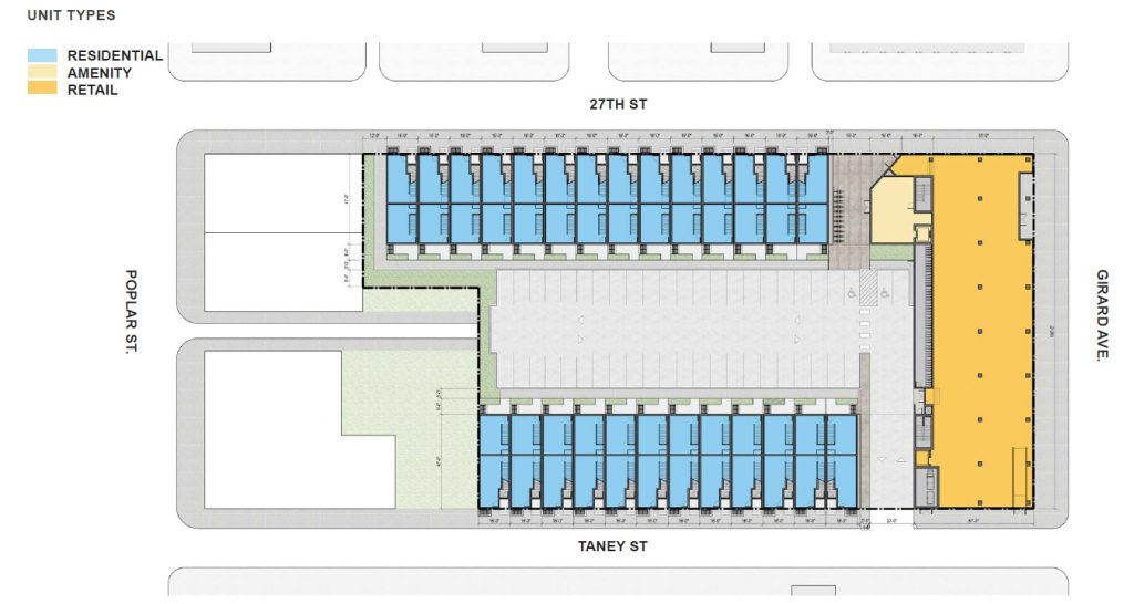 2630 West Girard Avenue. Site plan. Credit: ISA