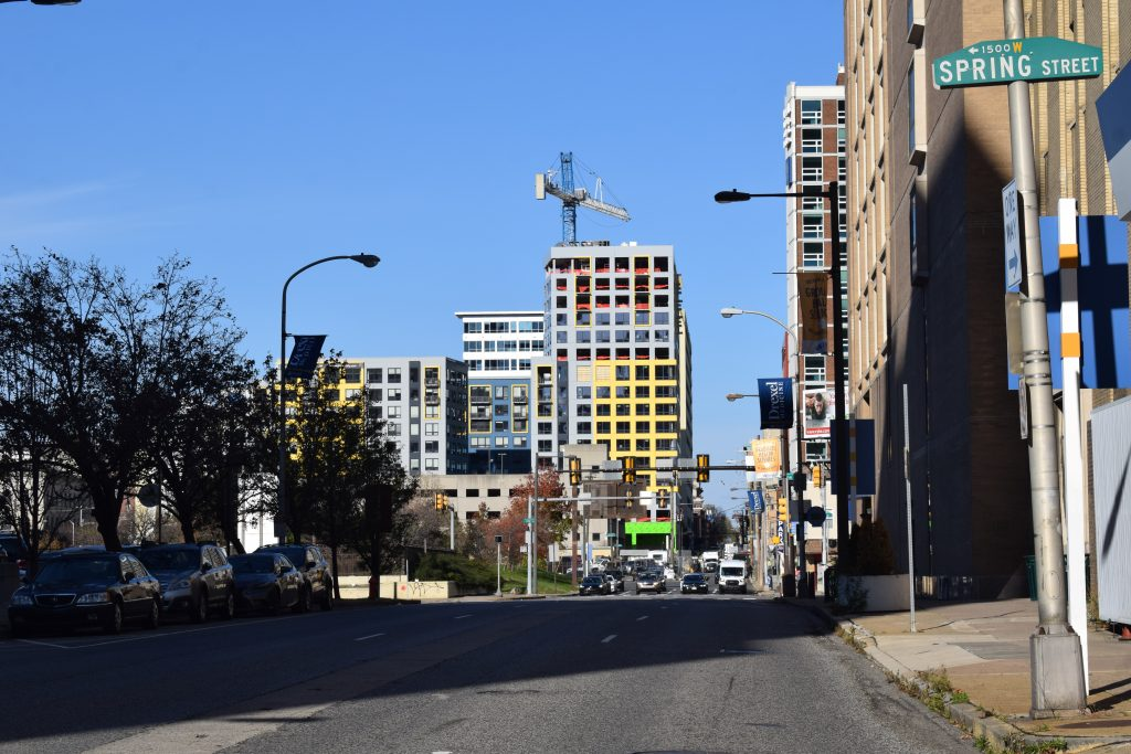 The Hamilton from the corner of North 15th Street and Race Street. Photo by Thomas Koloski