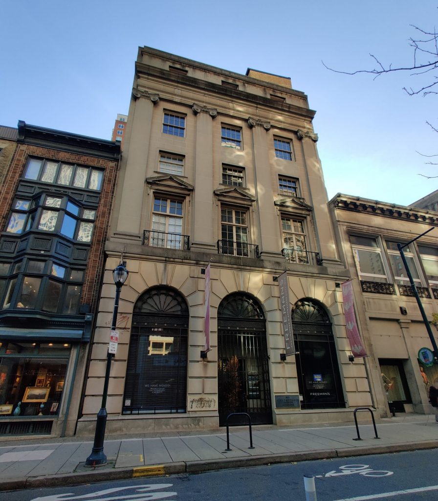 Freeman Auction House at 1810 Chestnut Street. Photo by Thomas Koloski