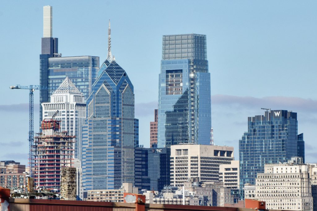 Center City towers and W/Element Hotel (right). Photo by Thomas Koloski