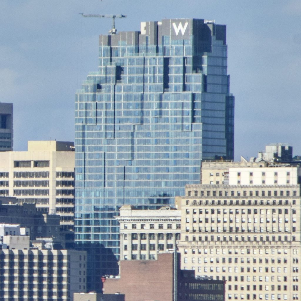 W/Element Hotel from the Walt Whitman Bridge. Photo by Thomas Koloski