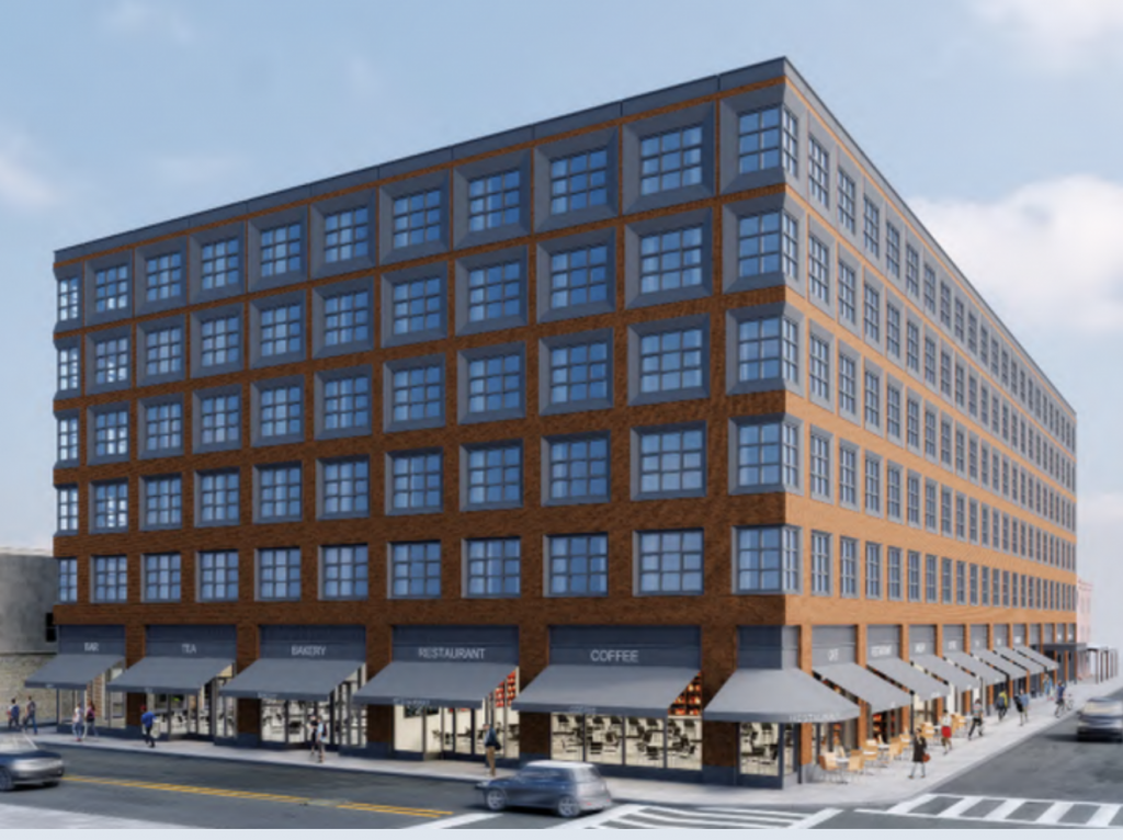 Rendering of the previous proposal at 1101-33 South 9th Street via SkyscraperPage