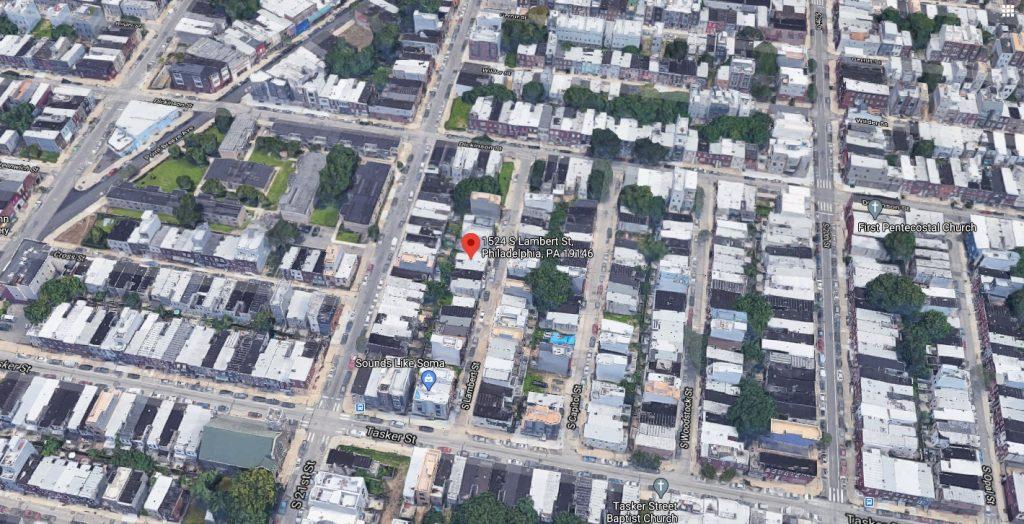 1524 South Lambert Street. Looking north. Credit: Google