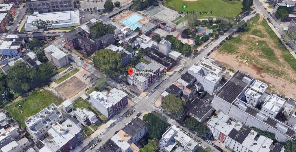1753 Wylie Street. Looking south. Credit: Google
