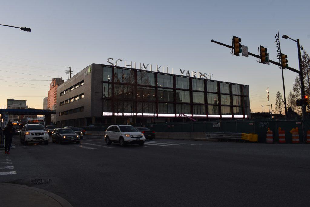 Schuylkill Yards Bulletin Building. Photo by Thomas Koloski