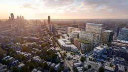 uCity Square rendering aerial via State of University City Report
