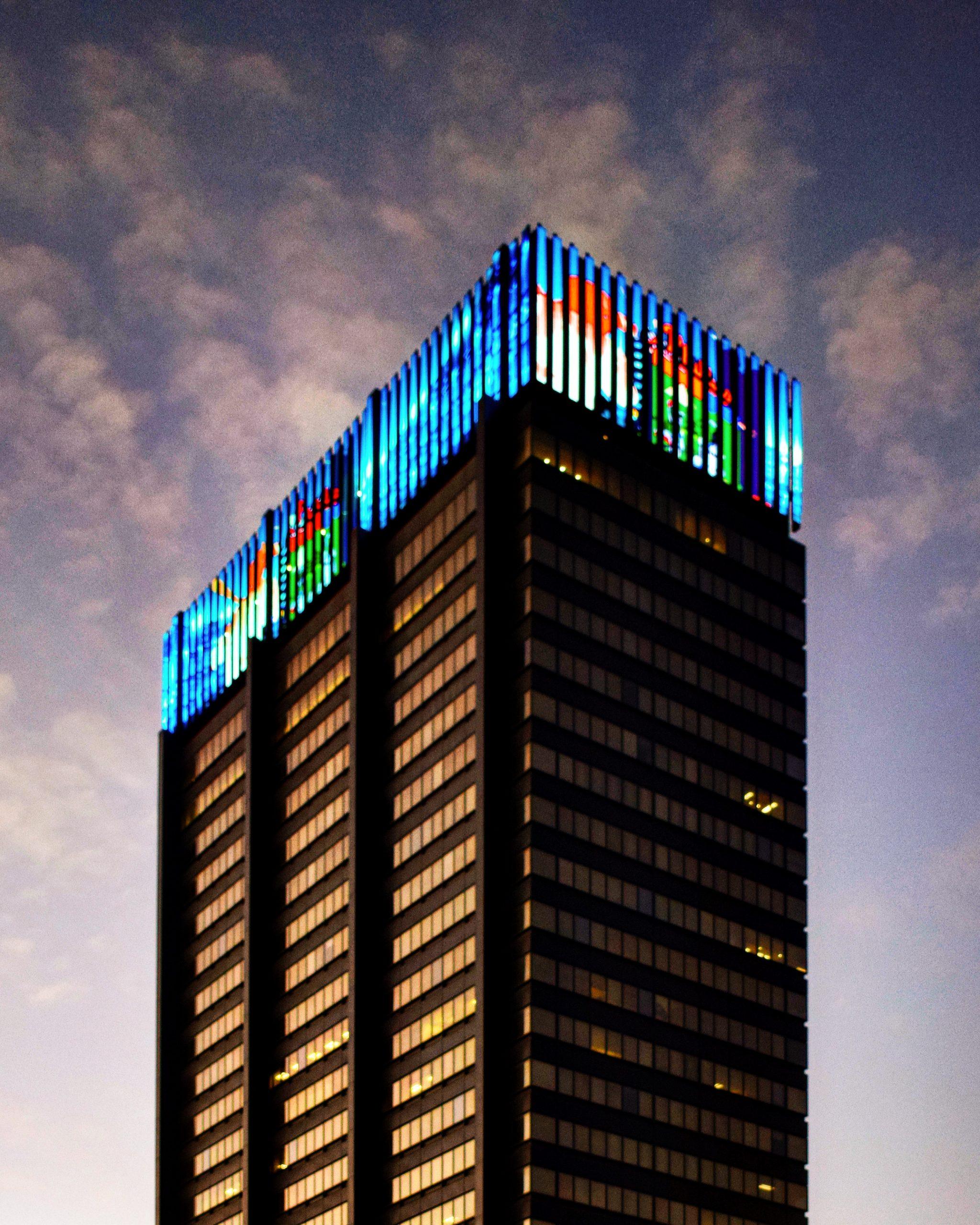 PECO Building with the new display. Photo by Thomas Koloski