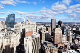 The view from Arthaus looking north toward Washington Square West. Photo by Thomas Koloski