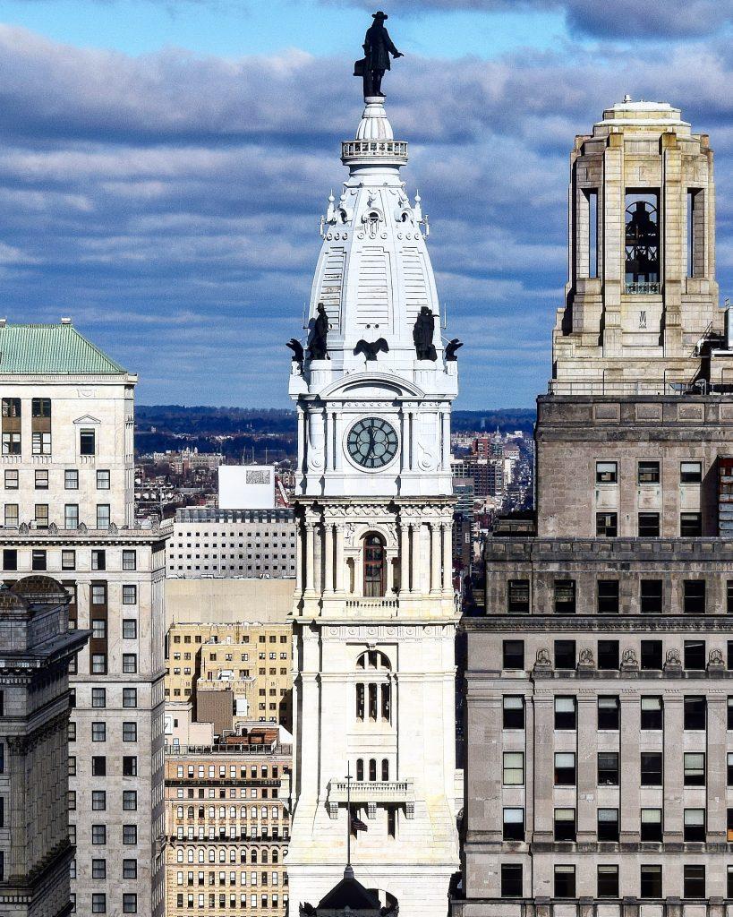 Philadelphia City Hall from Arthaus. Photo by Thomas Koloski