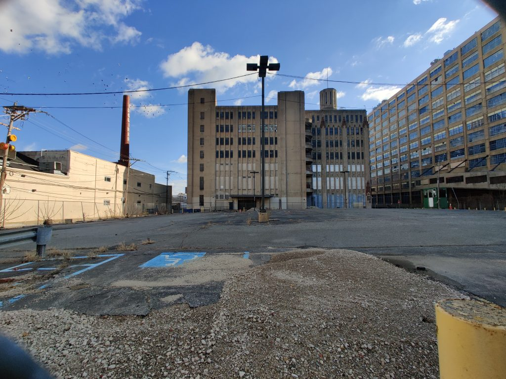 Broad and Noble site looking east. Photo by Thomas Koloski