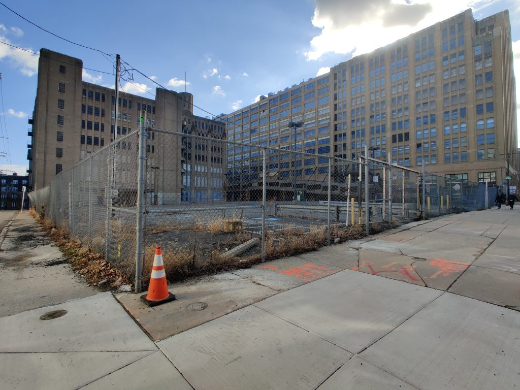 Broad and Noble site looking southeast. Photo by Thomas Koloski