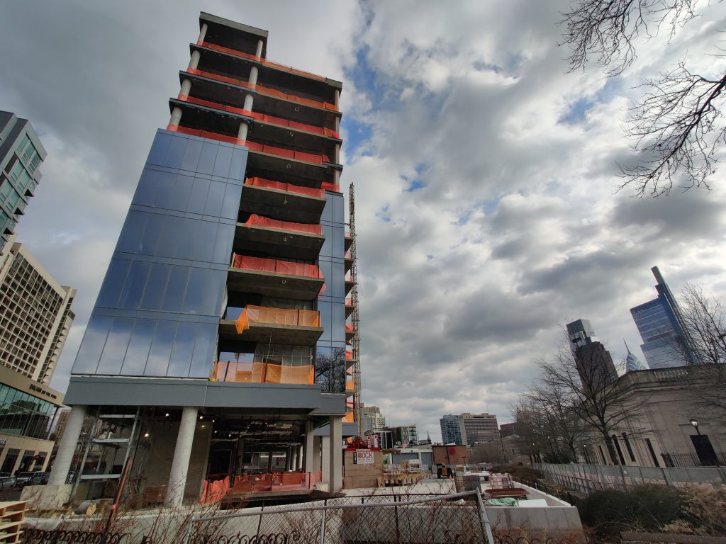 2100 Hamilton Street and the Center City towers. Photo by Thomas Koloski