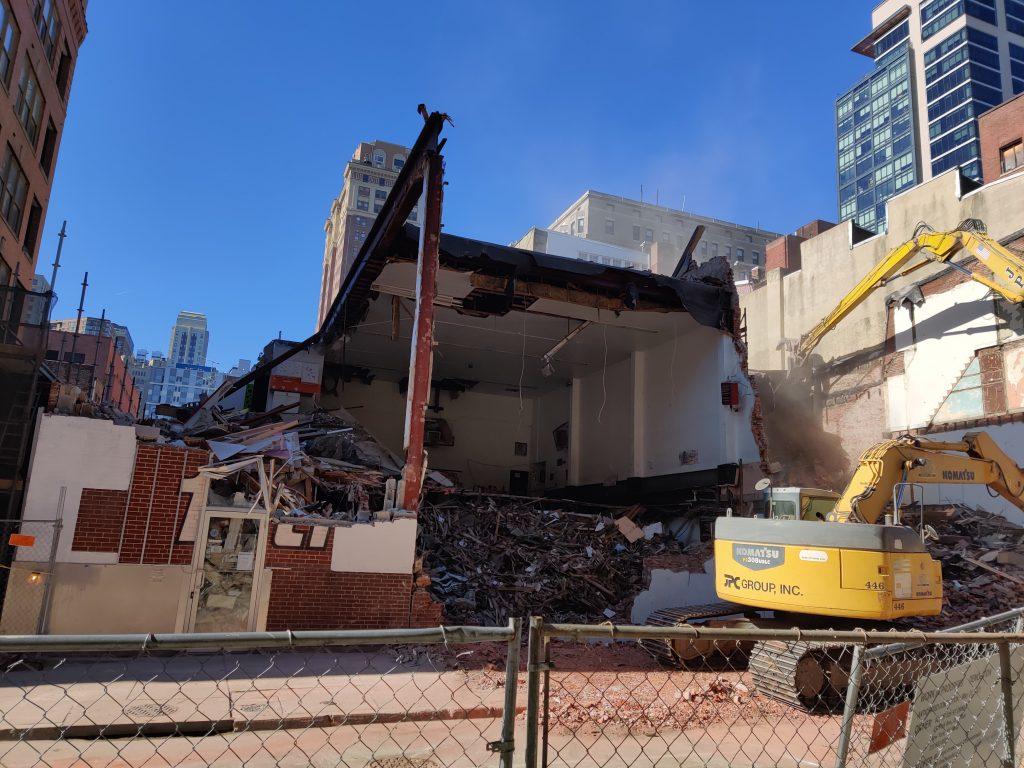 204 South 12th Street demolition up close. Photo by Thomas Koloski
