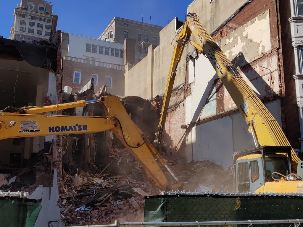 Machines at work on 204 South 12th Street. Photo by Thomas Koloski