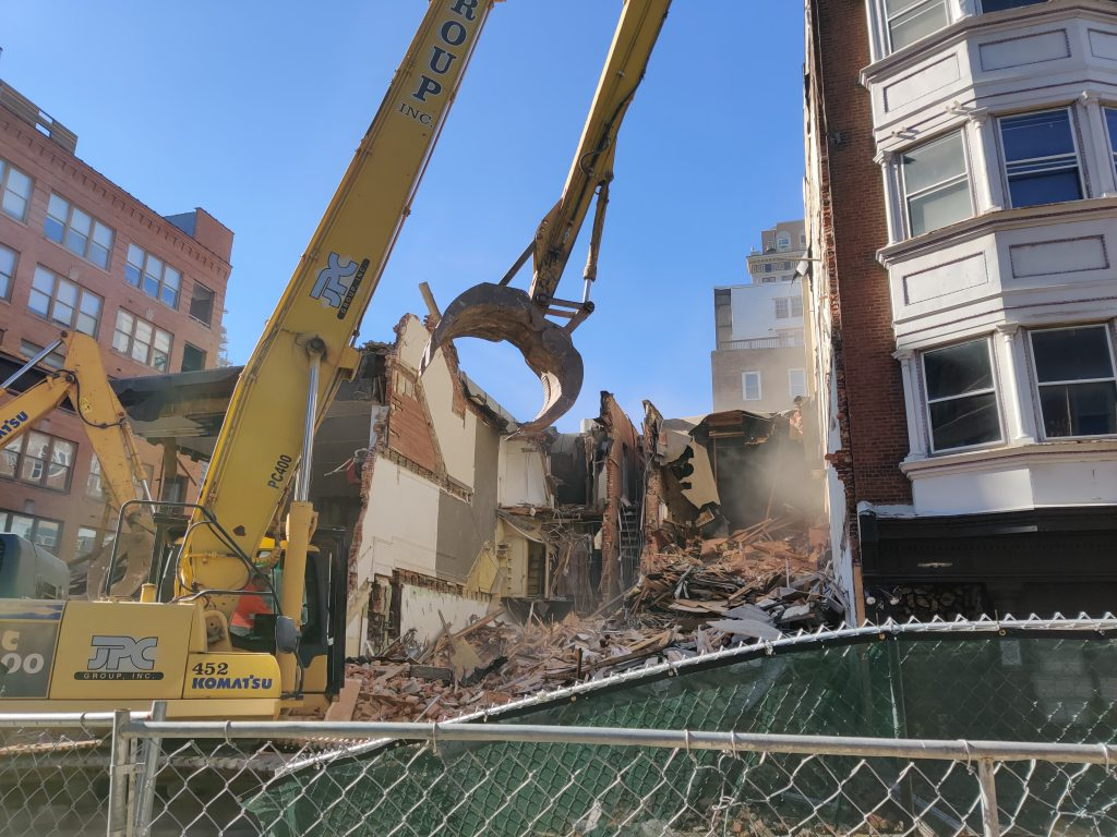 Torn up structures at 204 South 12th Street. Photo by Thomas Koloski