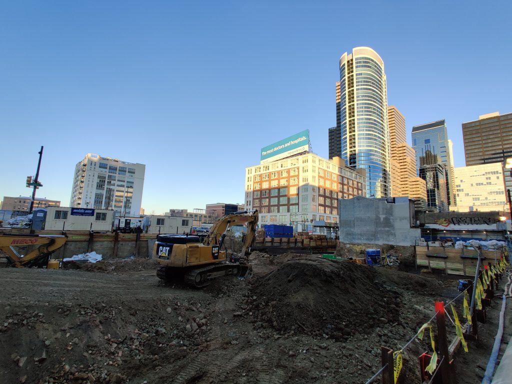 2222 Market Street excavation looking northeast. Photo by Thomas Koloski