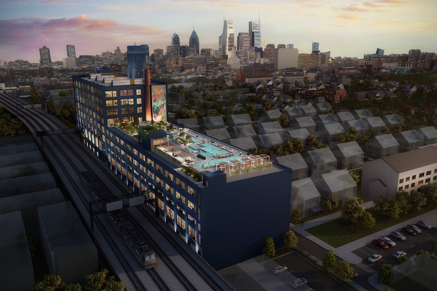 The Poplar Apartments rendering via Post Brothers