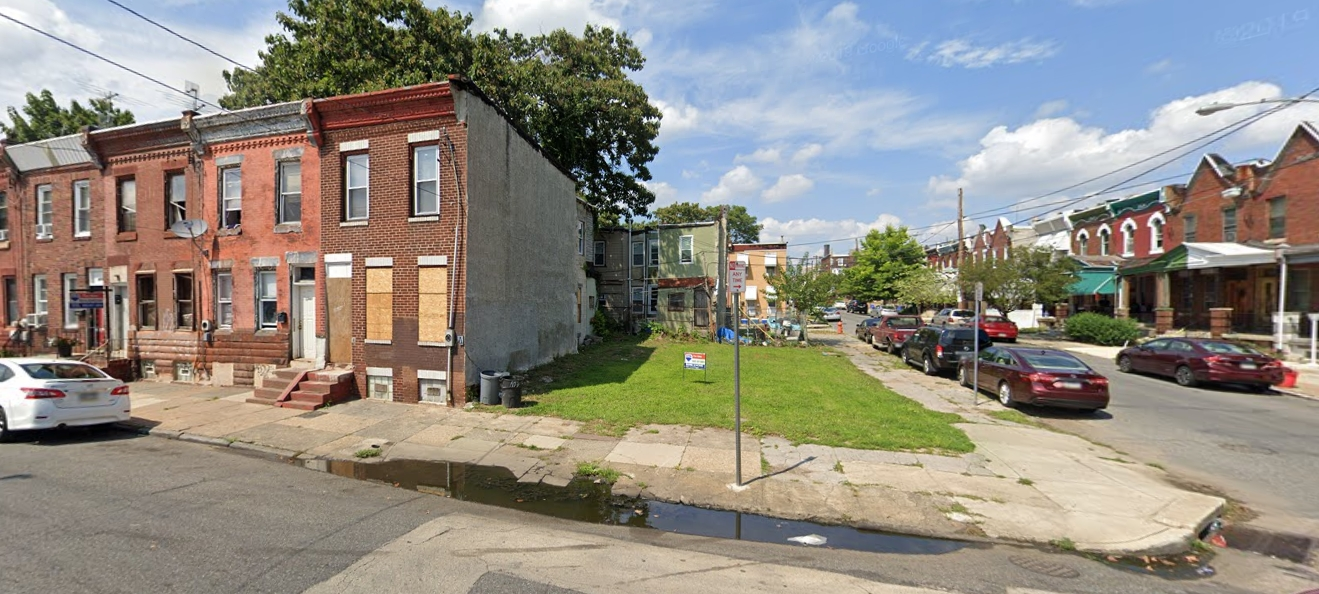 1303 West Clearfield Street. Looking north. Credit: Google
