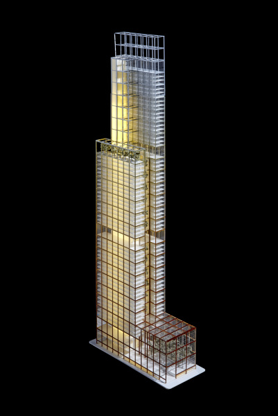 Early concept of the Comcast Technology Center. Photo from Foster and Partners