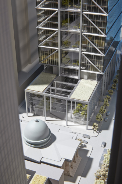 Early concept of the Comcast Technology Center base. Photo from Foster and Partners