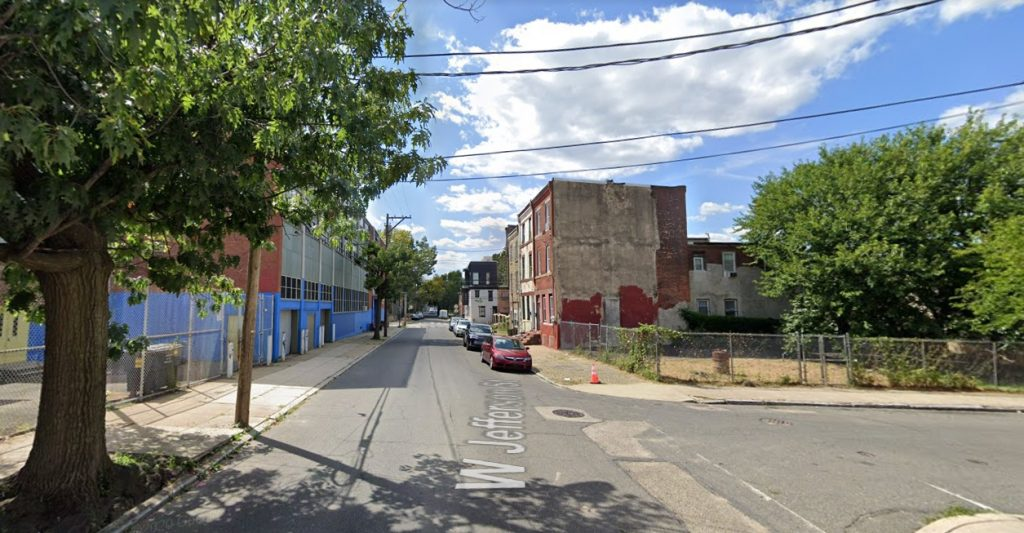 Jefferson Street, with 2521 Jefferson Street on the right. Looking west. Credit: Google