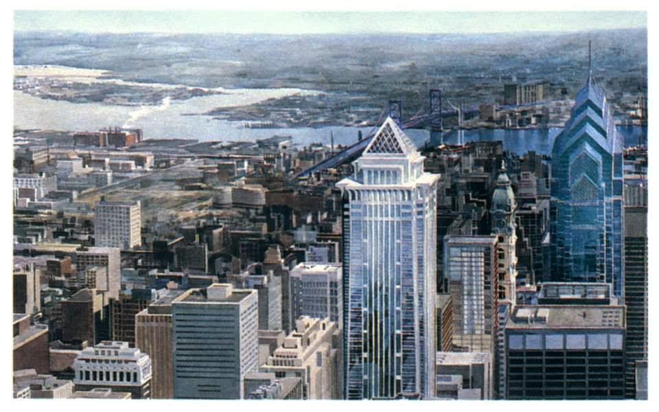 Mellon Bank Center. Photo via Elizabeth Day Art & Architectural Illustration