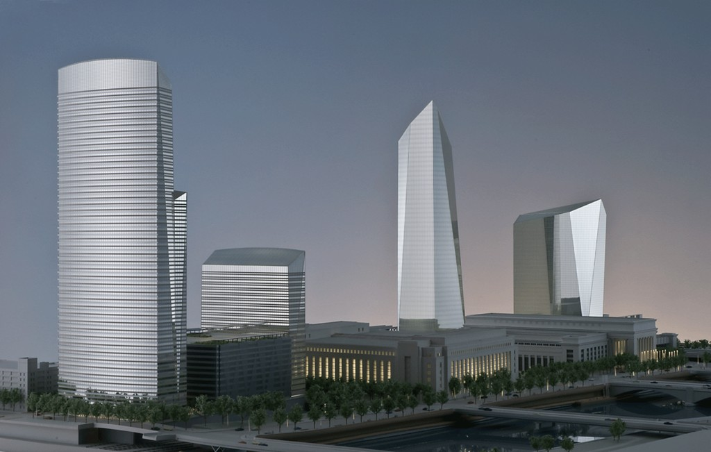 Cira 2 and the Cira Center. Photo by KMCA Architectural Model Makers and Prototyping