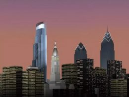 Center City Tower rendering with Liberty Place. Image via Kling Lindquist