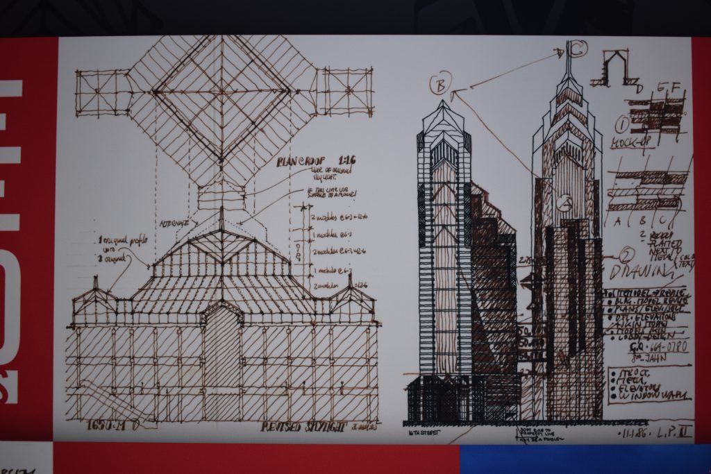 Two Liberty Place sketches 11/01/1986 via Helmut Jahn