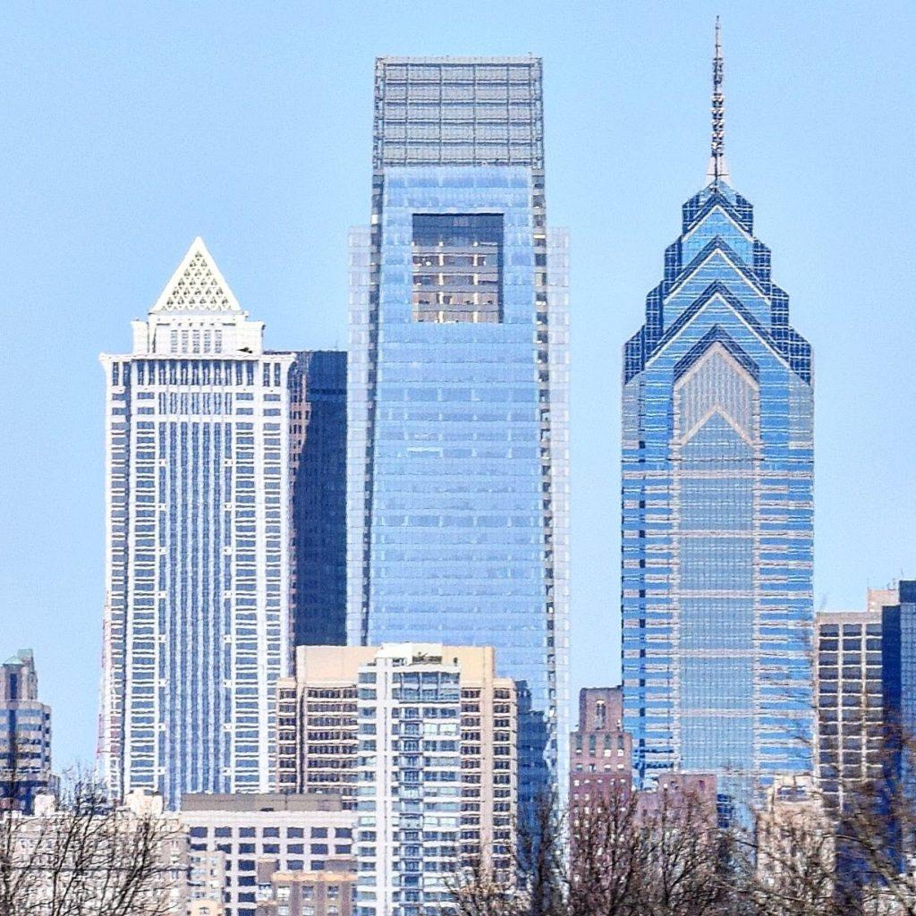 BNY Mellon Center, Comcast Center, and One Liberty Place. Photo by Thomas Koloski