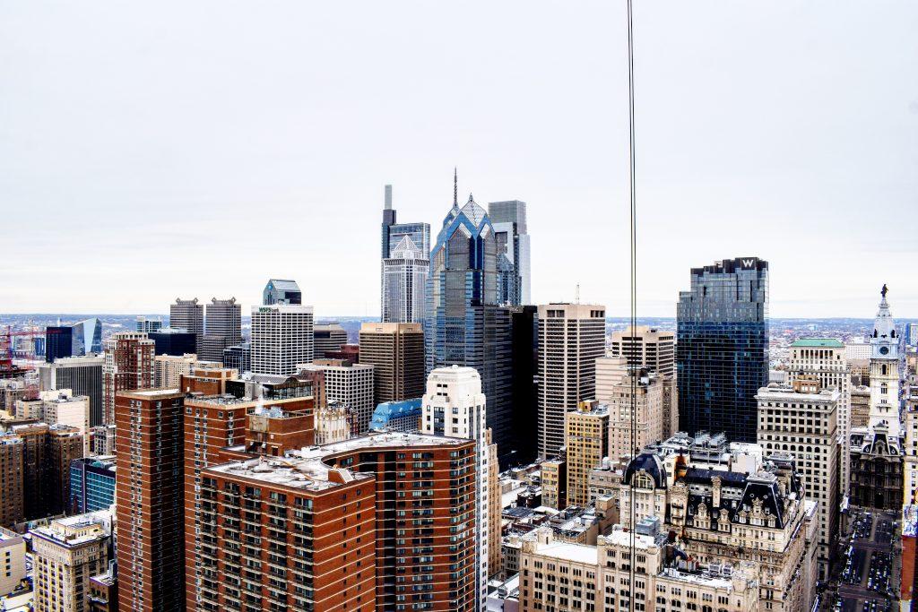 Philadelphia skyline from the 41st floor. Photo by Thomas Koloski