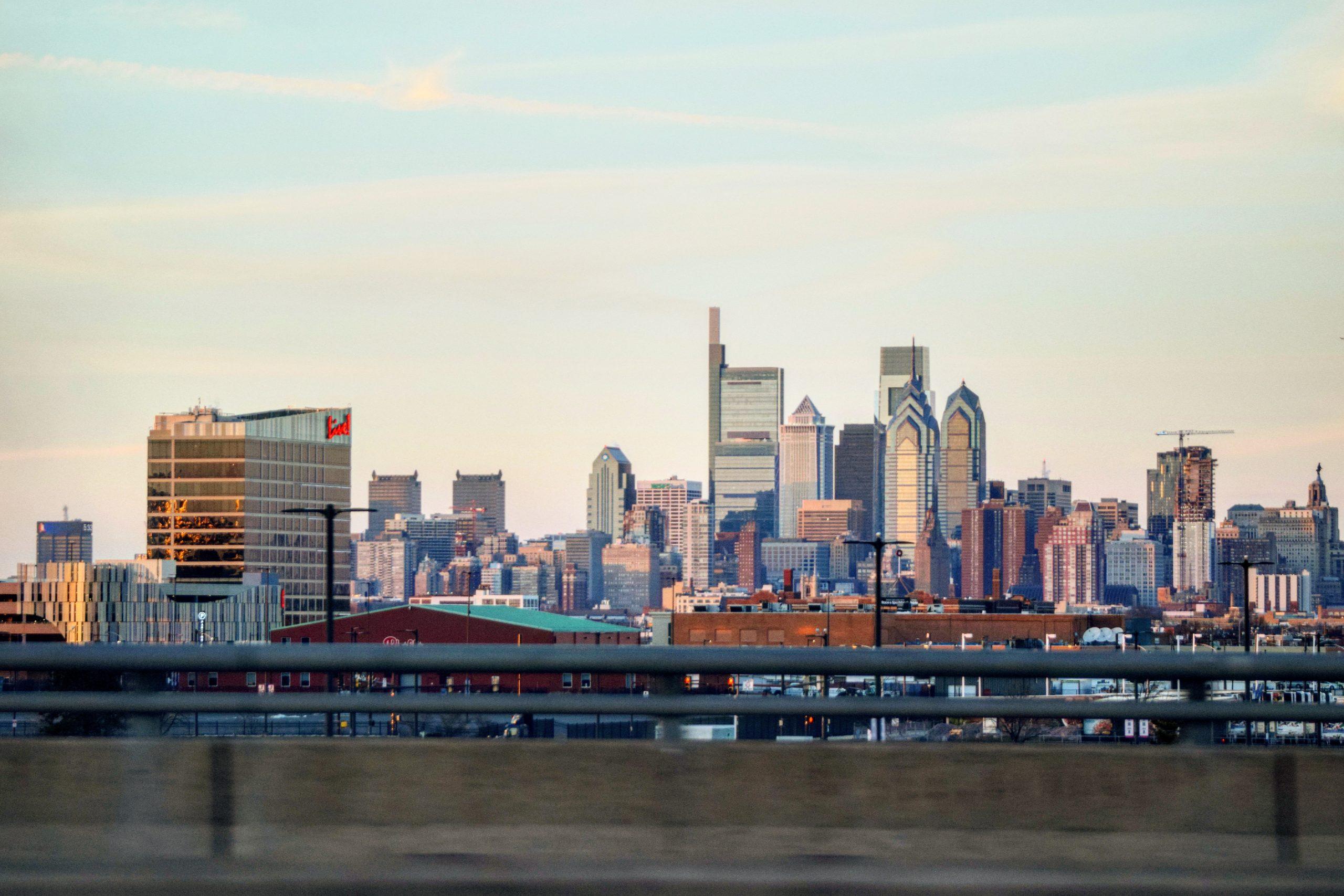 Live! Casino and Hotel with the Philadelphia skyline. Photo by Thomas Koloski