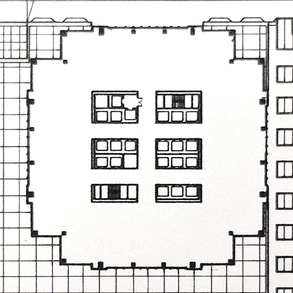 Two Liberty Place floor plan from 1985. Image via Jahn/Murphy